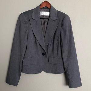 Trina Turk Gray One Button Blazer SZ 10 NWOT